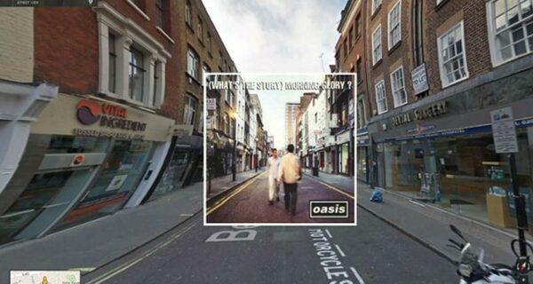 Обложки музыкальных альбомов на Google Street View