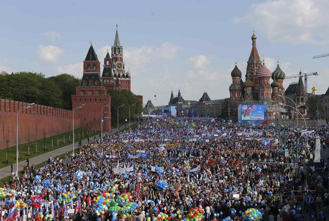 1m2014msk 1 Первомай в Москве