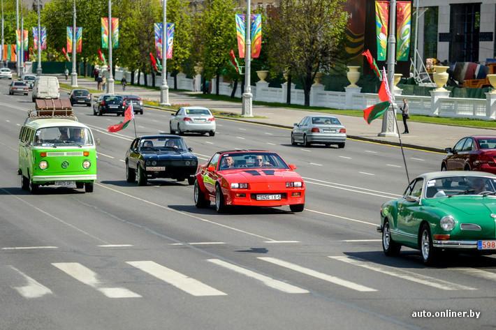 RetroAuto02 Ретропарад в седьмой раз собрал любителей автомобильной классики в Минске