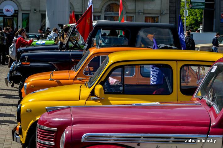 RetroAuto55 Ретропарад в седьмой раз собрал любителей автомобильной классики в Минске