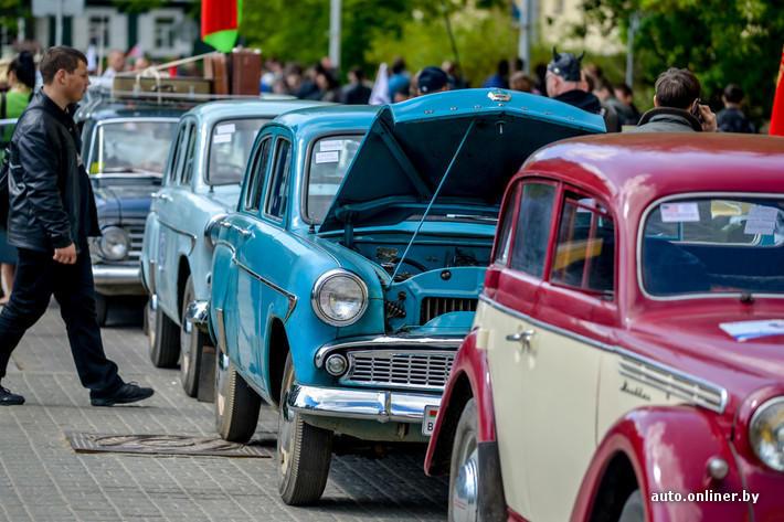 RetroAuto62 Ретропарад в седьмой раз собрал любителей автомобильной классики в Минске
