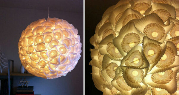 22 идеи изготовления светильников и люстр из повседневных предметов