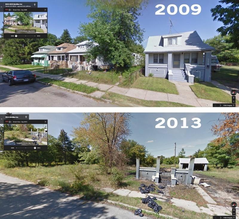 DetroitGSV00 800x734 Печальное и впечатляющее зрелище — разрушения в Детройте за последние 5 лет