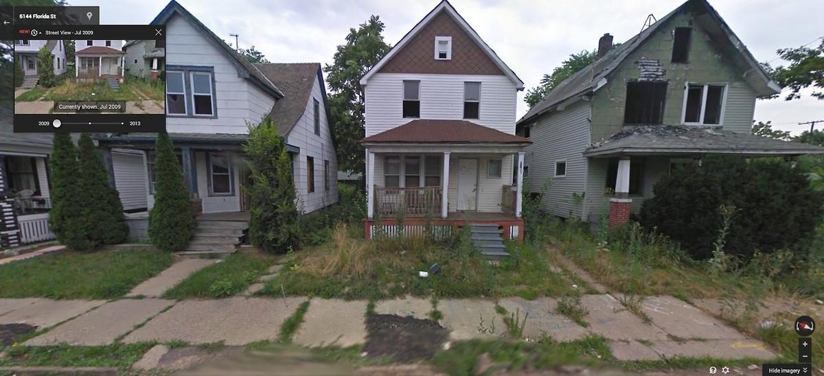 DetroitGSV01 Печальное и впечатляющее зрелище — разрушения в Детройте за последние 5 лет