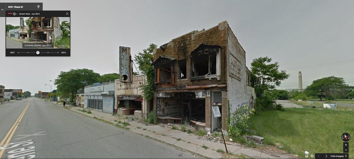 DetroitGSV09 Печальное и впечатляющее зрелище — разрушения в Детройте за последние 5 лет