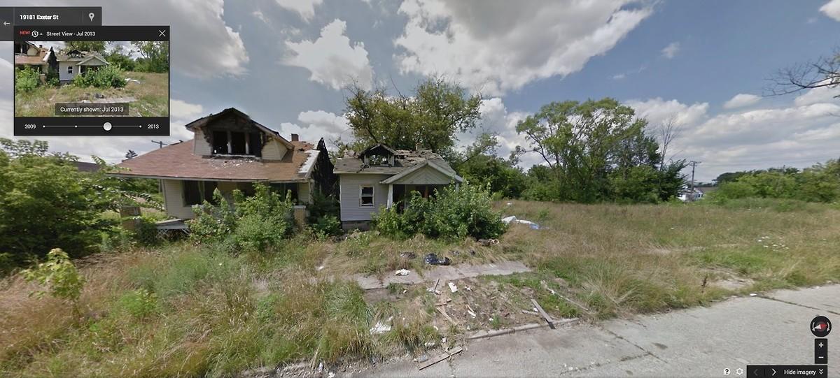 DetroitGSV14 Печальное и впечатляющее зрелище — разрушения в Детройте за последние 5 лет