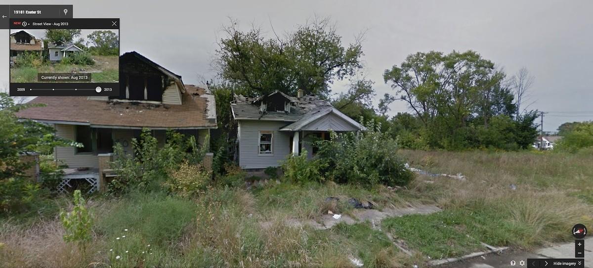 DetroitGSV15 Печальное и впечатляющее зрелище — разрушения в Детройте за последние 5 лет