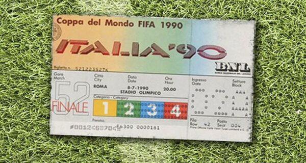 Как менялся дизайн билетов ЧМ по футболу с 1930года