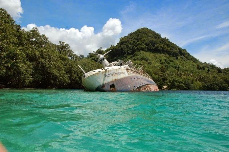 sunkenships01 12 затонувших кораблей, на которые можно посмотреть без акваланга