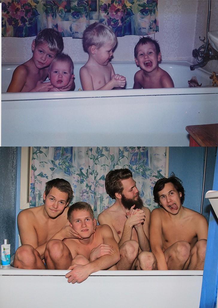 thennow02 До и после: забавные семейные фото десятки лет спустя