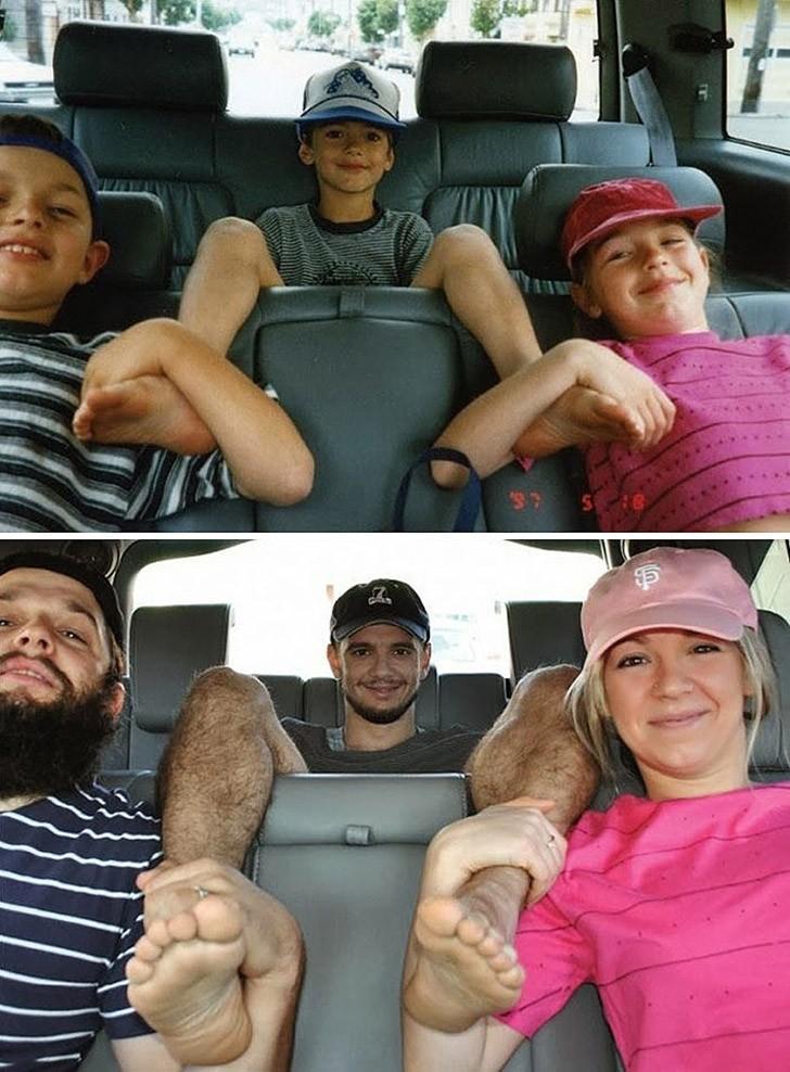 thennow05 До и после: забавные семейные фото десятки лет спустя