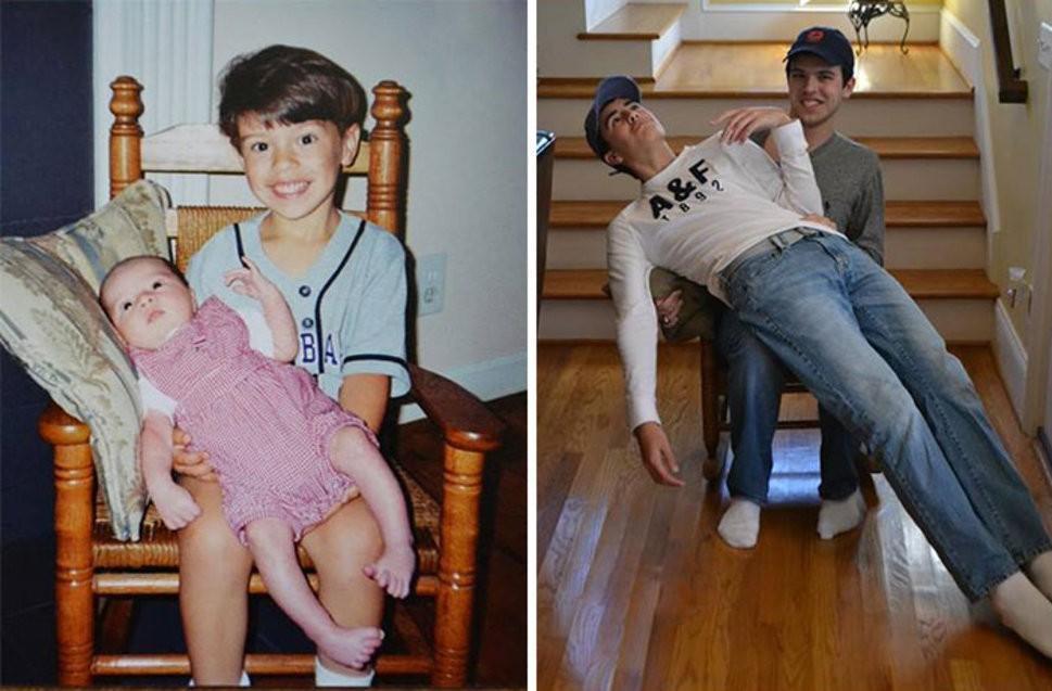 thennow13 До и после: забавные семейные фото десятки лет спустя