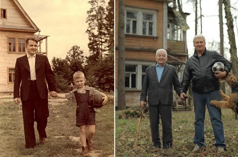 thennow17 До и после: забавные семейные фото десятки лет спустя