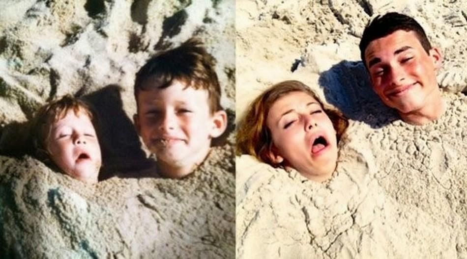 thennow19 До и после: забавные семейные фото десятки лет спустя