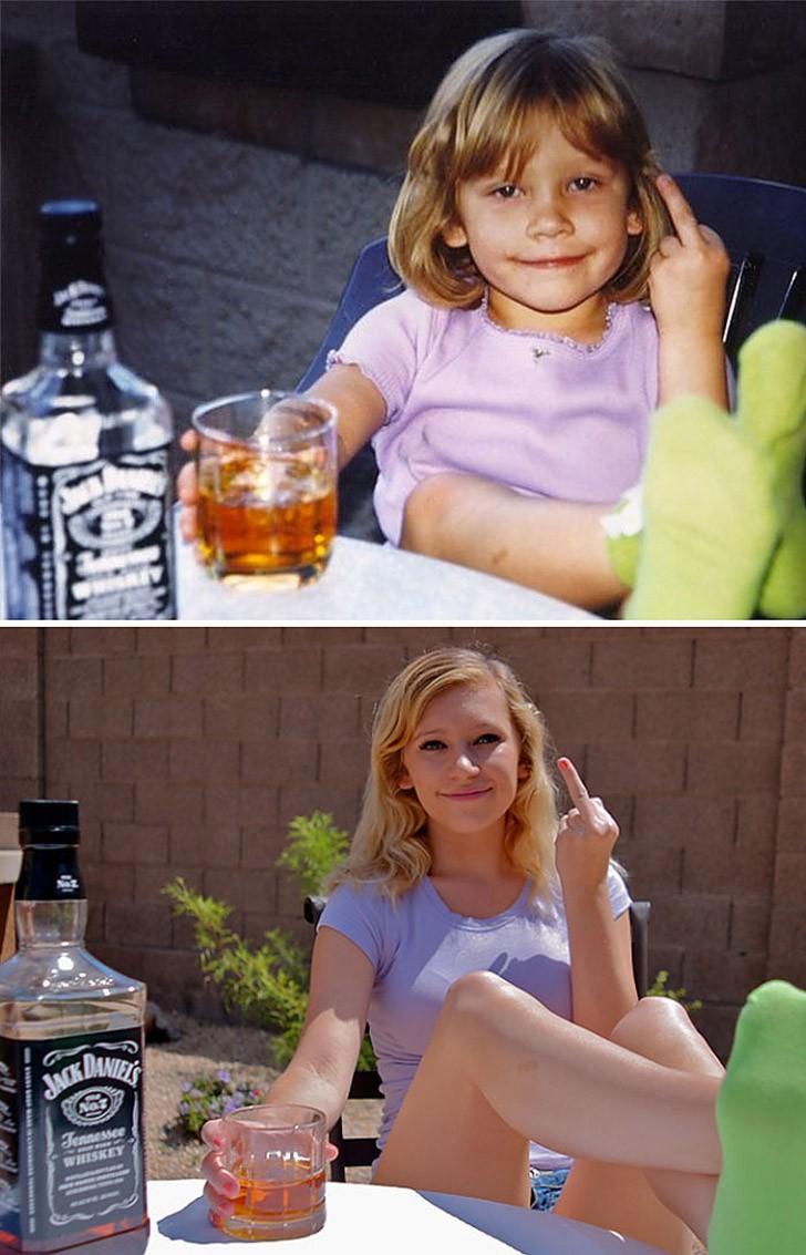 thennow20 До и после: забавные семейные фото десятки лет спустя