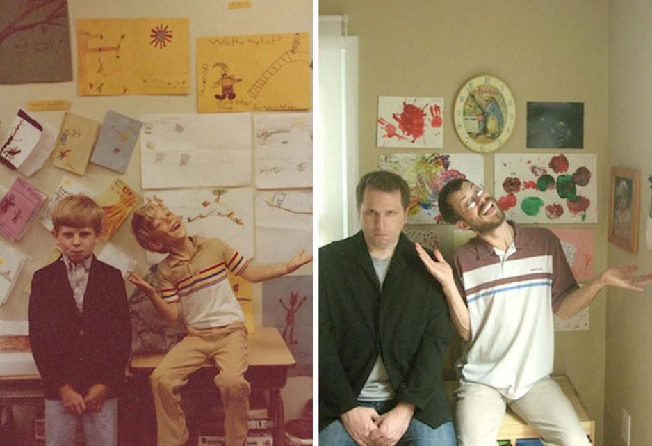 thennow22 До и после: забавные семейные фото десятки лет спустя