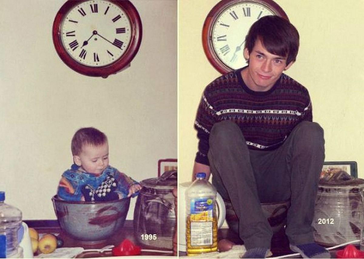 thennow23 До и после: забавные семейные фото десятки лет спустя