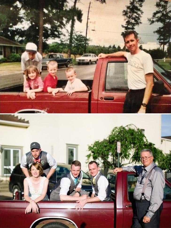 thennow24 До и после: забавные семейные фото десятки лет спустя