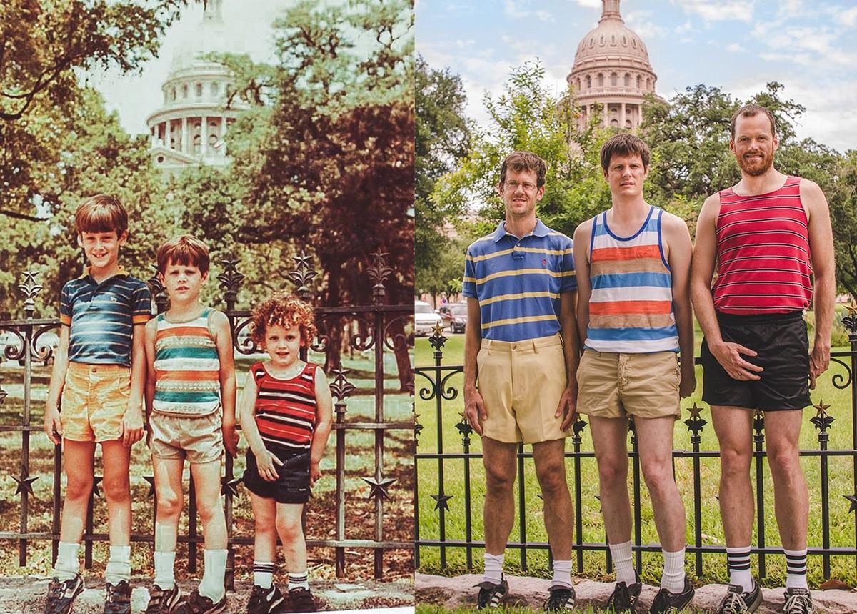 thennow25 До и после: забавные семейные фото десятки лет спустя