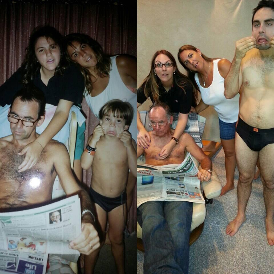 thennow28 До и после: забавные семейные фото десятки лет спустя
