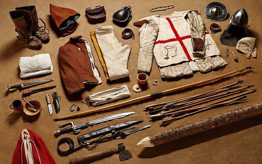 3. Год 1415-й, боевой лучник, Битва при Азенкуре.