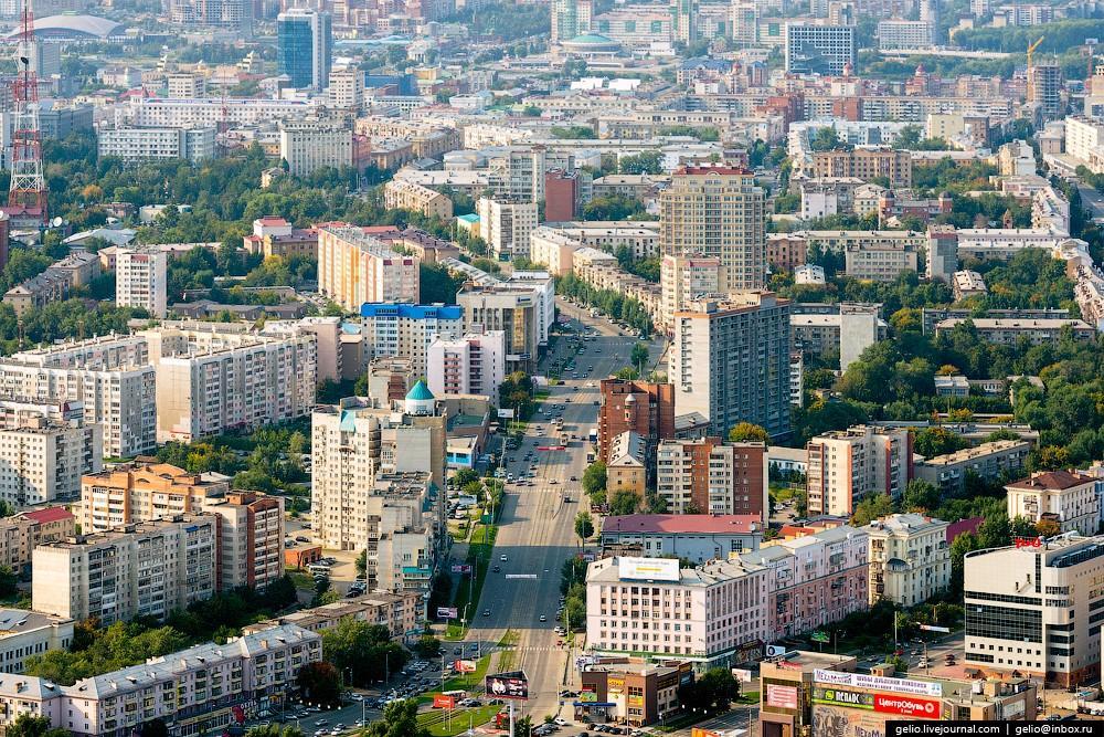 Суровый Челябинск с вертолета