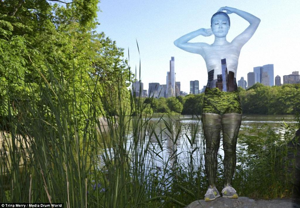 ZHenshhiny nevidimki v Nyu Jorke 11 Искусство маскировки: обнаженные модели на фоне Нью Йорка