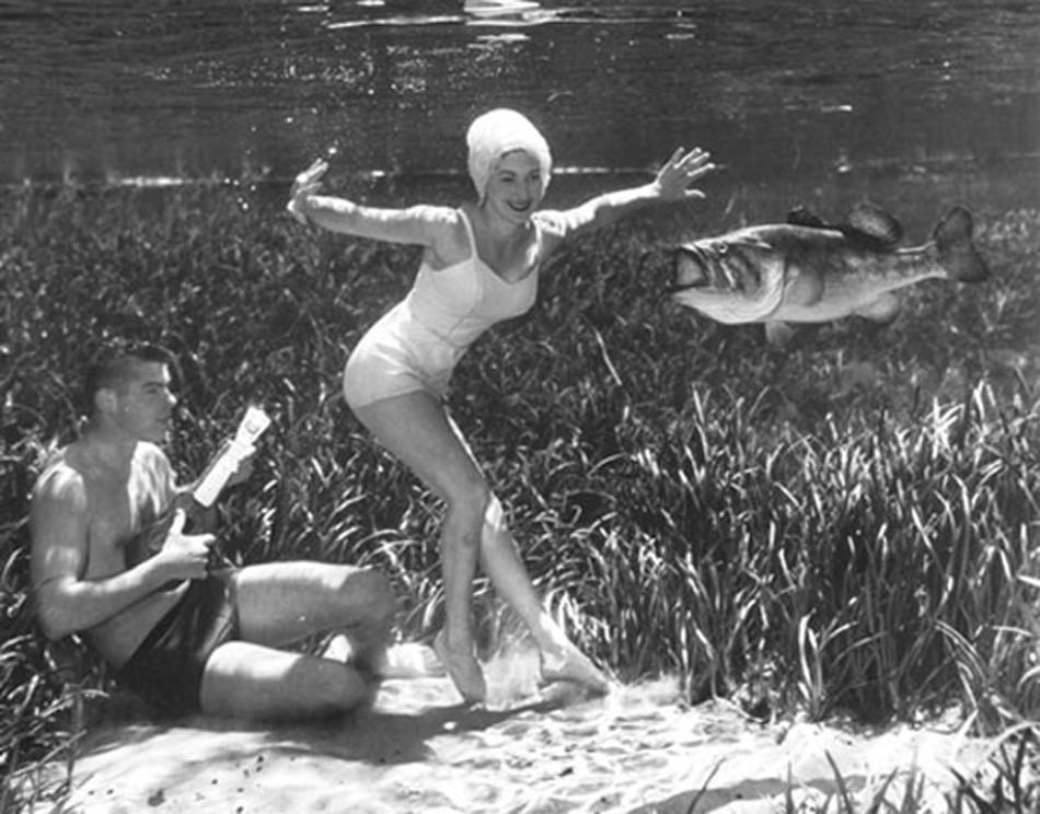 brucemozert10 Фантастические ретрофотографии со дна озера