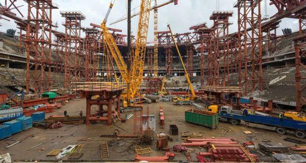 Как строят стадион «Зенит Арена»