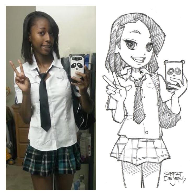 anime06 Аниме персонажи из реальных людей