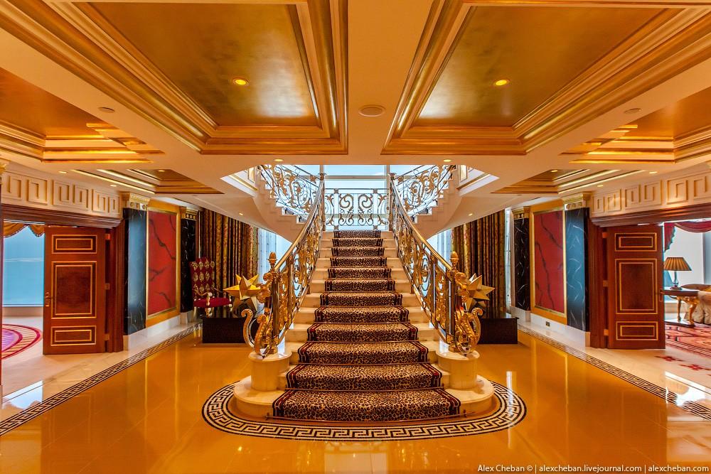 BurjAlArab05 ouro para xeques e oligarcas: o quarto mais caro no hotel Burj Al Arab sete estrelas