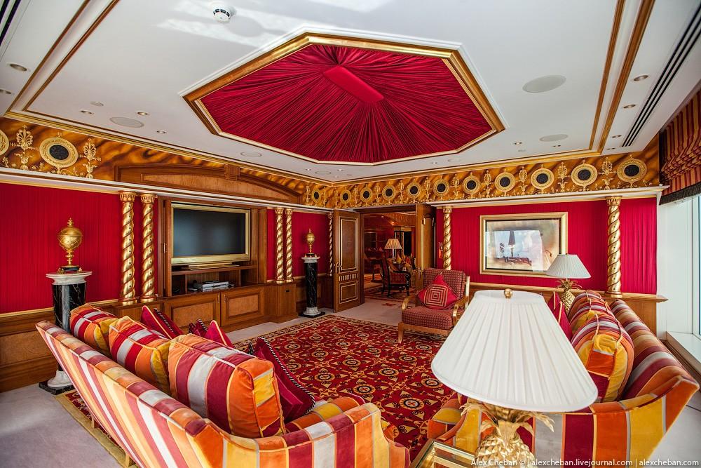 BurjAlArab06 ouro para xeques e oligarcas: o quarto mais caro no hotel Burj Al Arab sete estrelas
