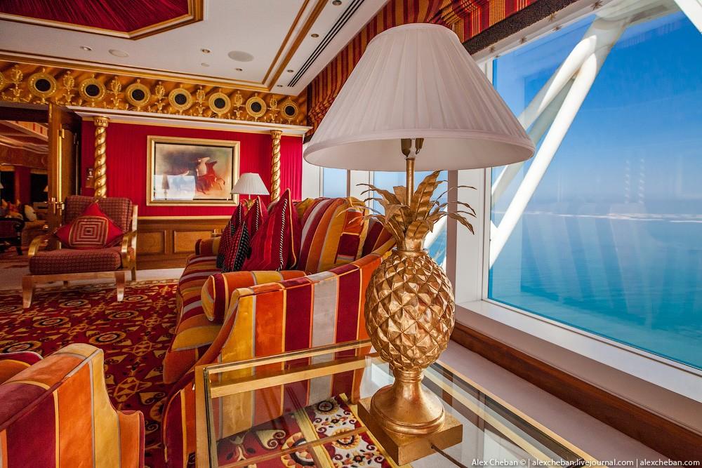 BurjAlArab07 ouro para xeques e oligarcas: o quarto mais caro no hotel Burj Al Arab sete estrelas