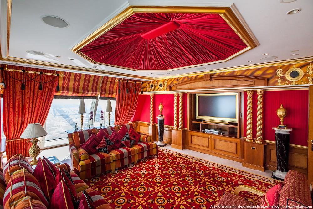 BurjAlArab08 ouro para xeques e oligarcas: o quarto mais caro no hotel Burj Al Arab sete estrelas
