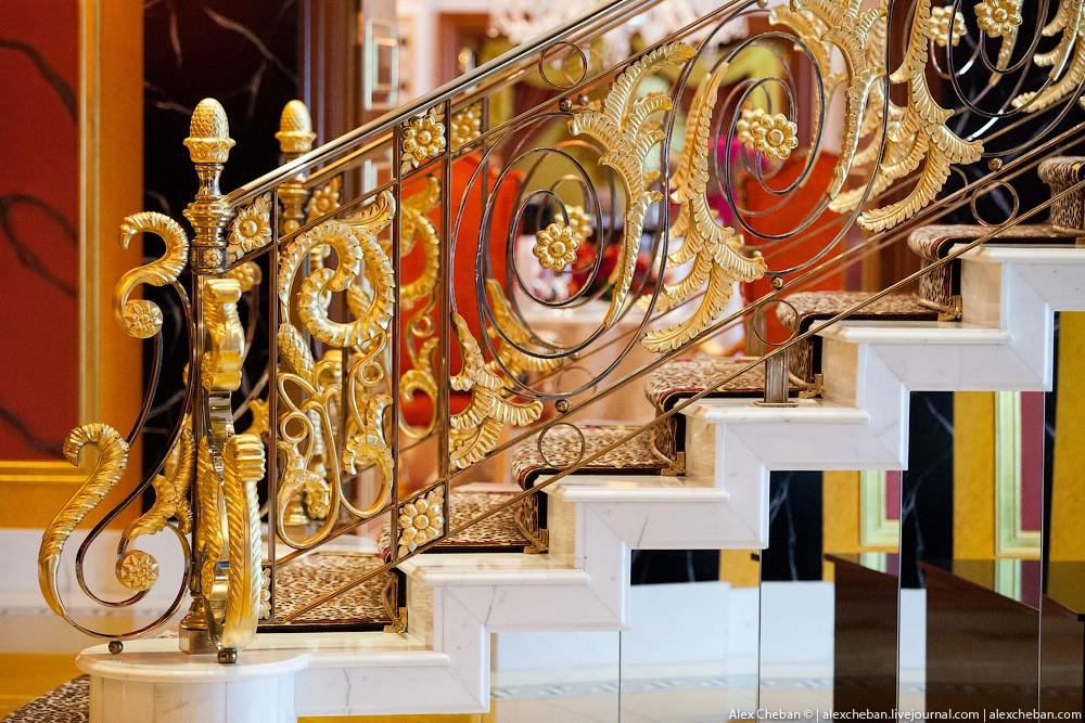 BurjAlArab17 ouro para xeques e oligarcas: o quarto mais caro no hotel Burj Al Arab sete estrelas