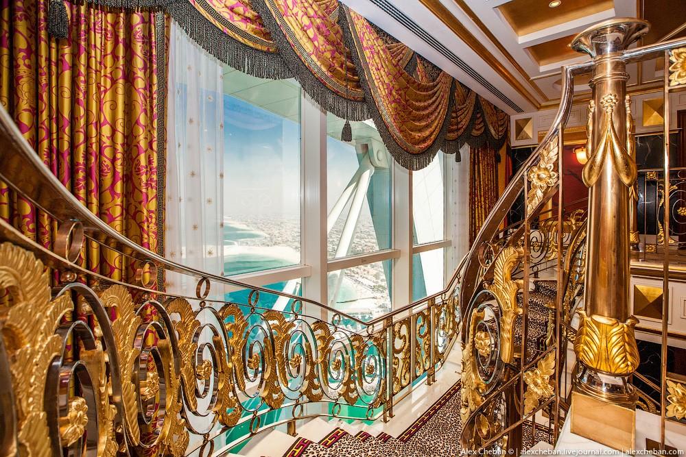 BurjAlArab18 ouro para xeques e oligarcas: o quarto mais caro no hotel Burj Al Arab sete estrelas