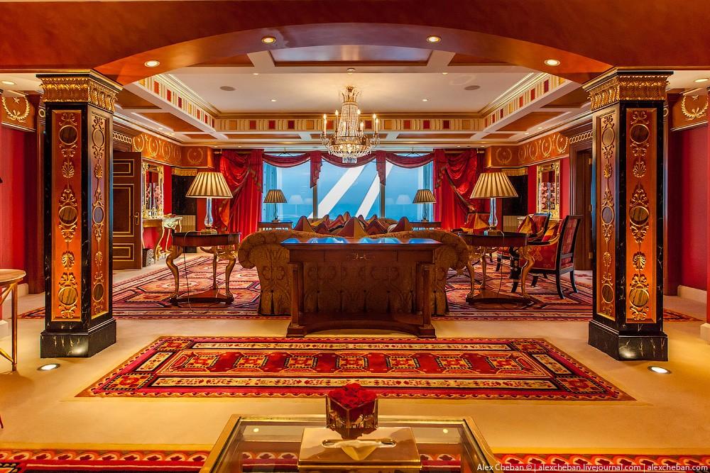 BurjAlArab32 ouro para xeques e oligarcas: o quarto mais caro no hotel Burj Al Arab sete estrelas