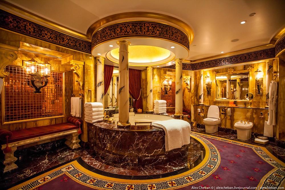 BurjAlArab36 ouro para xeques e oligarcas: o quarto mais caro no hotel Burj Al Arab sete estrelas