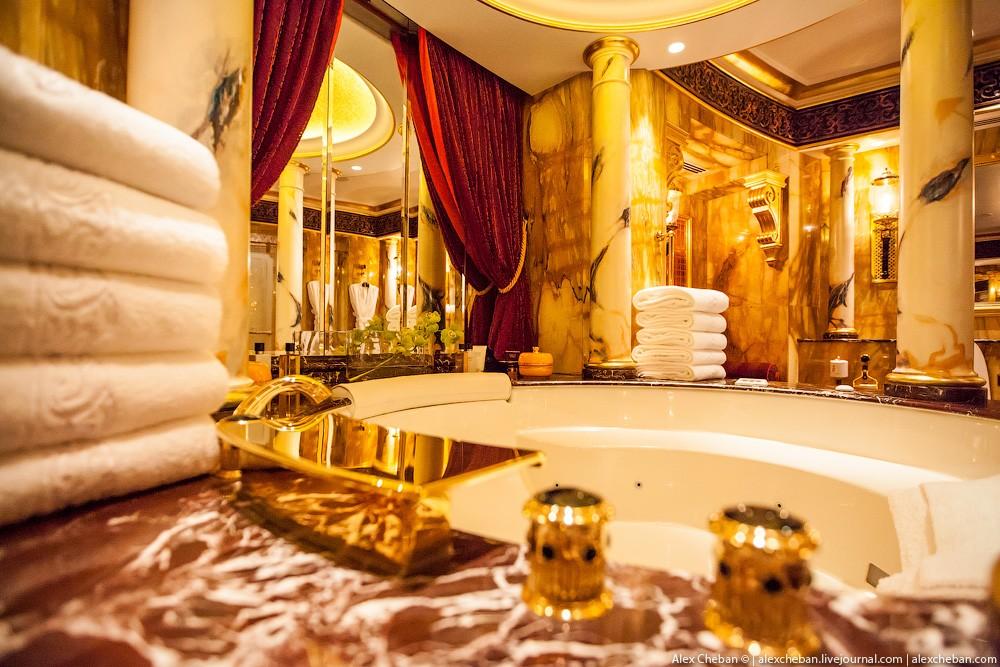 BurjAlArab38 ouro para xeques e oligarcas: o quarto mais caro no hotel Burj Al Arab sete estrelas