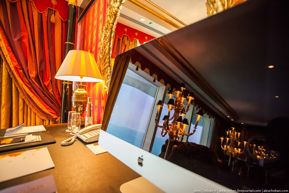 BurjAlArab39 ouro para xeques e oligarcas: o quarto mais caro no hotel Burj Al Arab sete estrelas