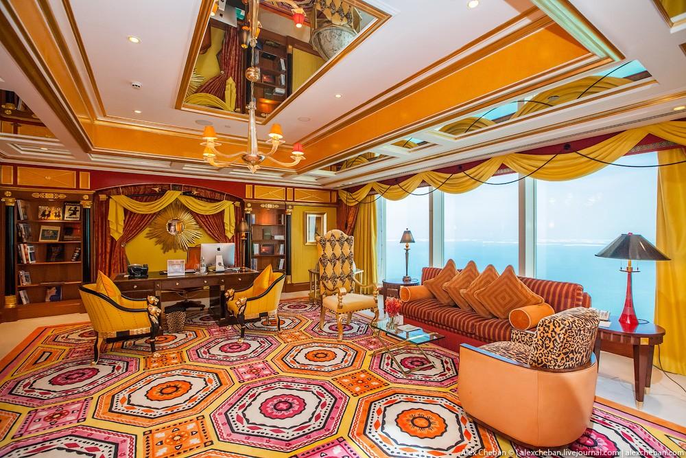 BurjAlArab47 ouro para xeques e oligarcas: o quarto mais caro no hotel Burj Al Arab sete estrelas