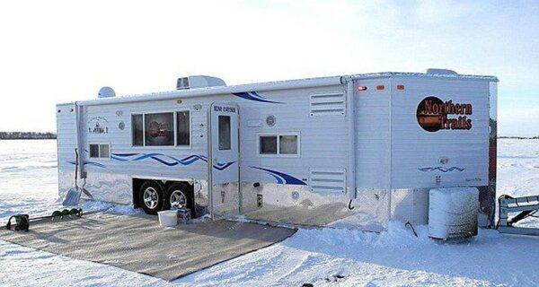 Мобильный дом для зимней рыбалки нальду