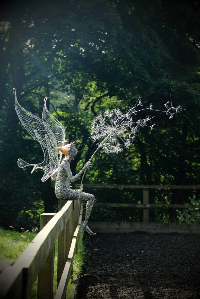 RobinWhite04 Удивительные скульптуры из стальной проволоки
