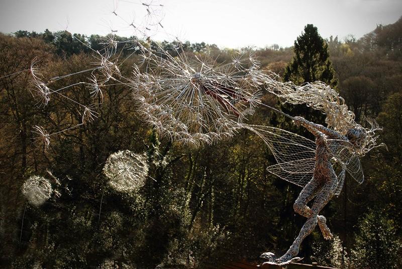 RobinWhite05 Удивительные скульптуры из стальной проволоки