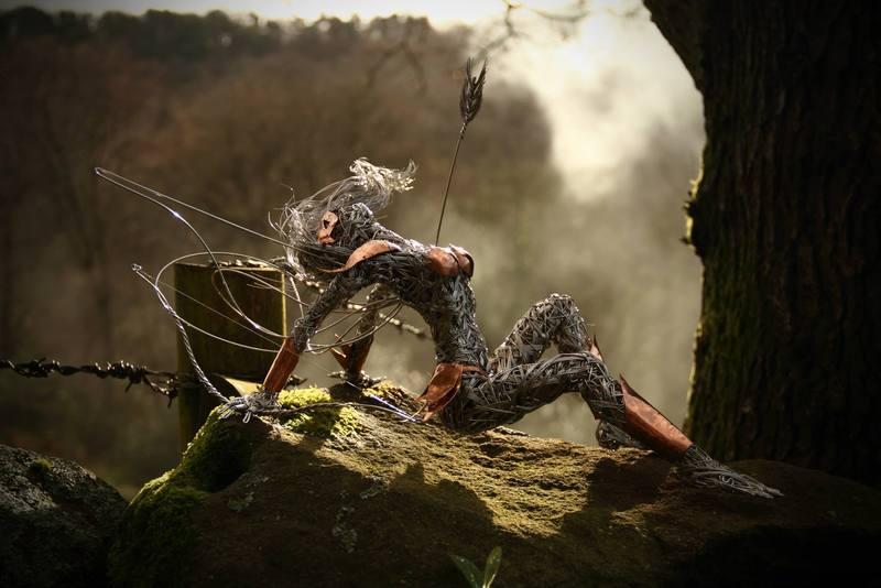 RobinWhite09 Удивительные скульптуры из стальной проволоки