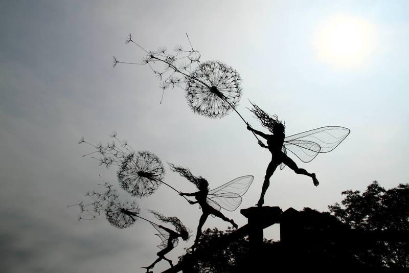 RobinWhite11 Удивительные скульптуры из стальной проволоки