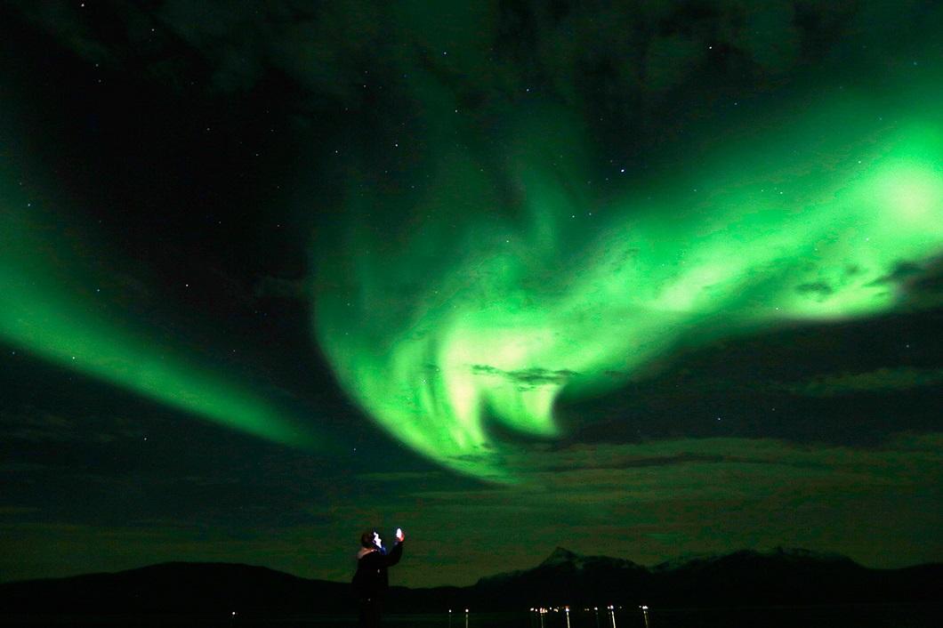 severnoe siyanie v norvegii 1 Северное сияние в Норвегии