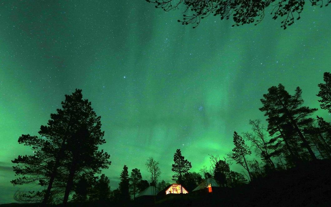 severnoe siyanie v norvegii 10 Северное сияние в Норвегии