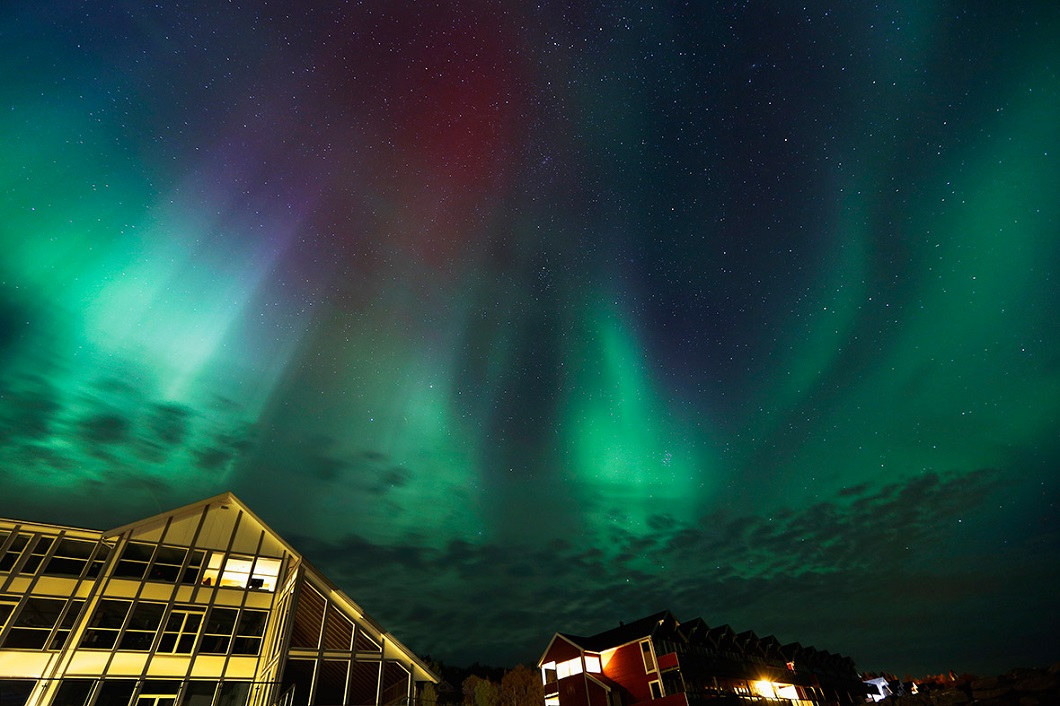severnoe siyanie v norvegii 2 Северное сияние в Норвегии