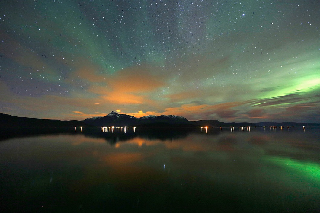 severnoe siyanie v norvegii 3 Северное сияние в Норвегии